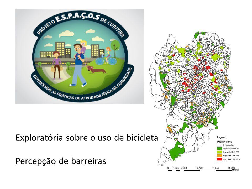 Exploratória sobre o uso de bicicleta Percepção de barreiras