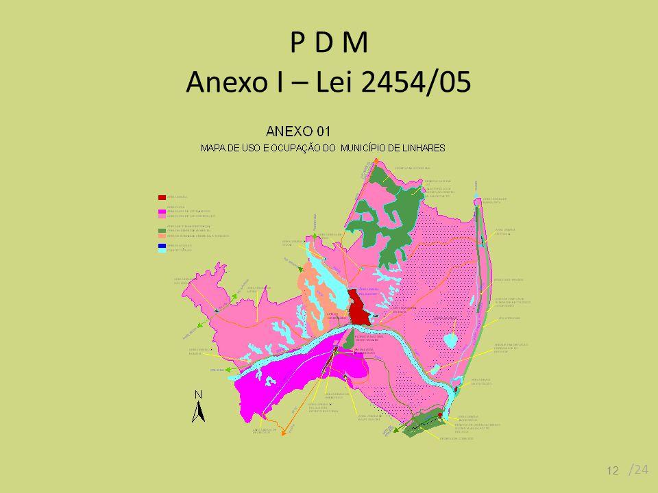 P D M Anexo I – Lei 2454/05 /24