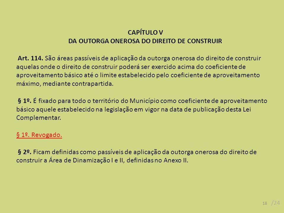 DA OUTORGA ONEROSA DO DIREITO DE CONSTRUIR