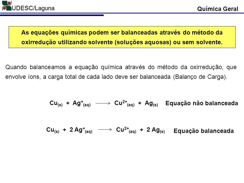 Cu(s) + Ag+(aq) Cu2+(aq) + Ag(s)