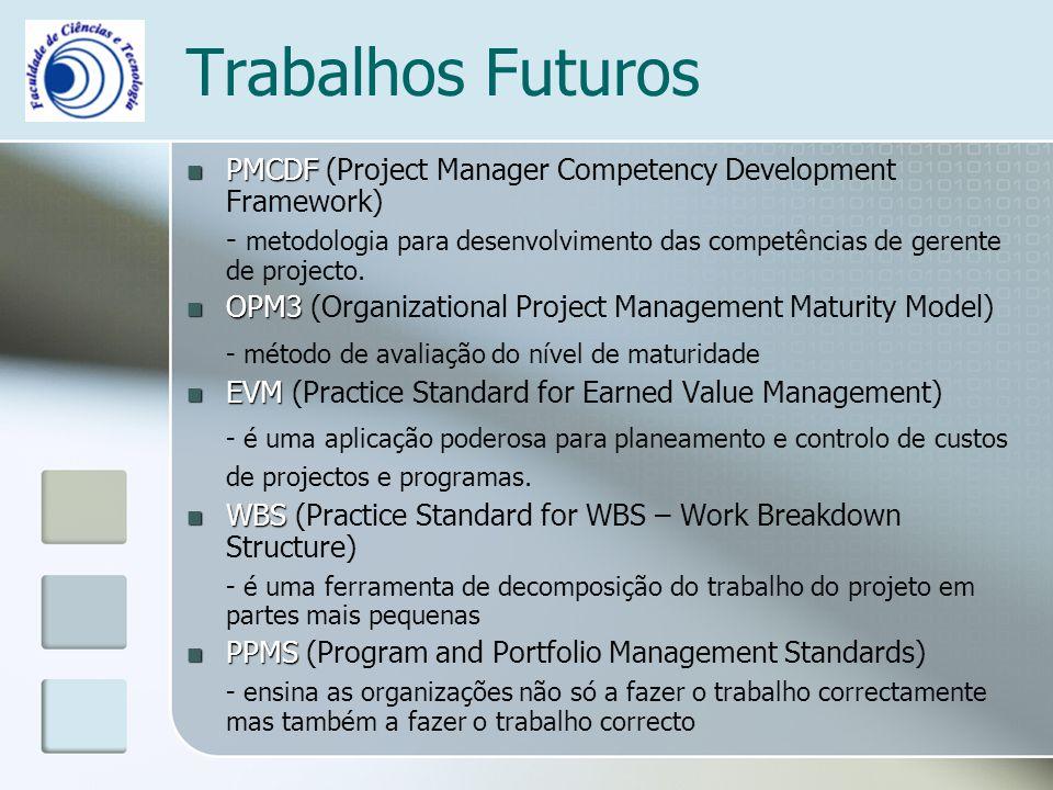 Trabalhos Futuros - método de avaliação do nível de maturidade