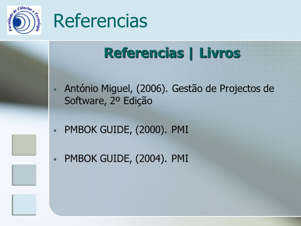 Referencias Referencias | Livros