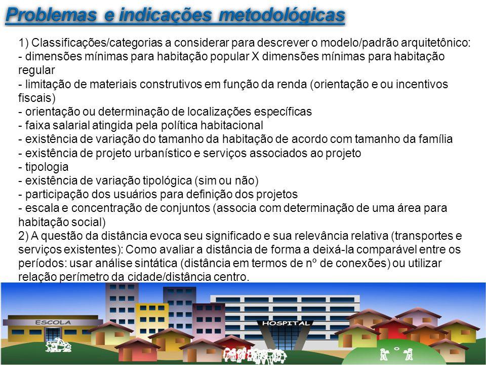 Problemas e indicações metodológicas