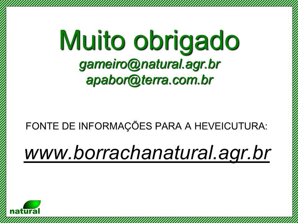 Muito obrigado gameiro@natural.agr.br apabor@terra.com.br