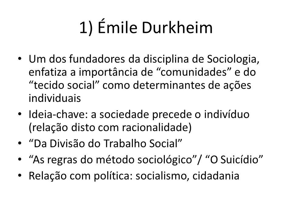 1) Émile Durkheim