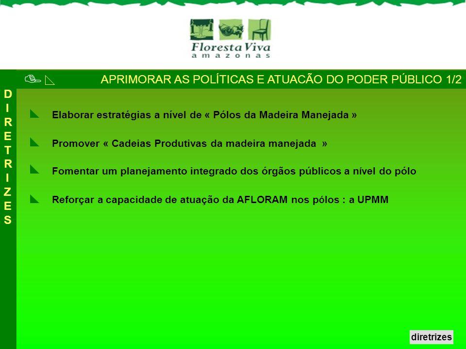  APRIMORAR AS POLÍTICAS E ATUACÃO DO PODER PÚBLICO 1/2 DIRETRIZES