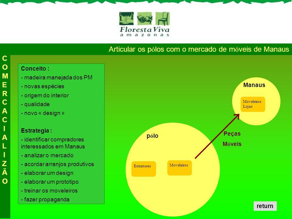 Articular os pólos com o mercado de móveis de Manaus