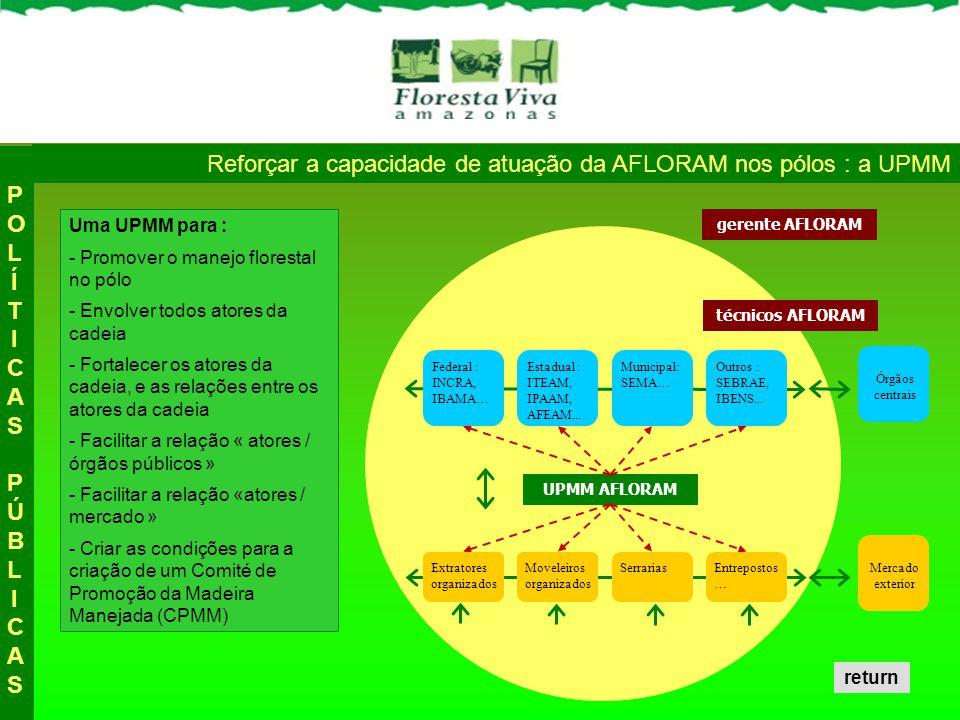 Reforçar a capacidade de atuação da AFLORAM nos pólos : a UPMM