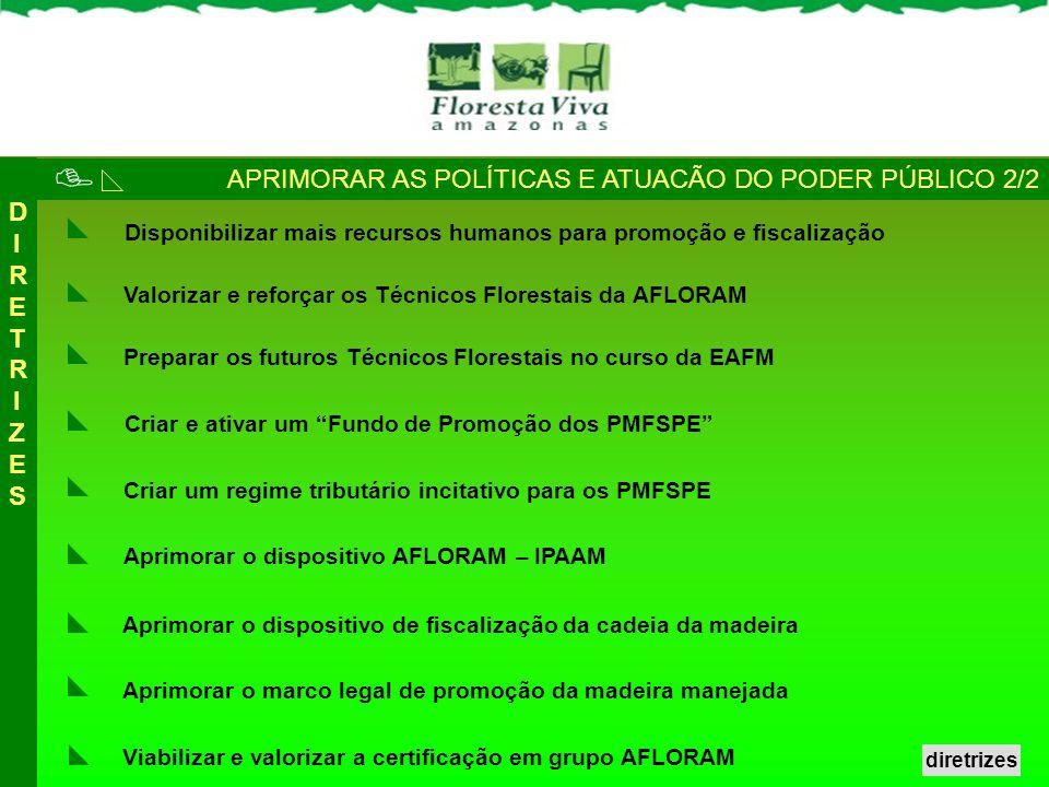  APRIMORAR AS POLÍTICAS E ATUACÃO DO PODER PÚBLICO 2/2 DIRETRIZES