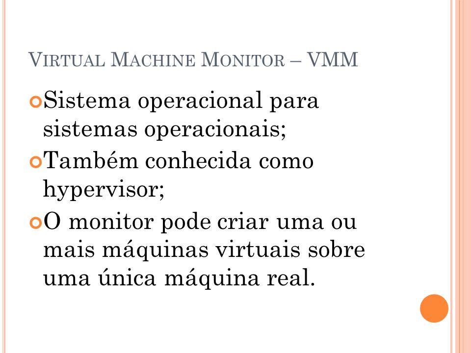 Virtual Machine Monitor – VMM