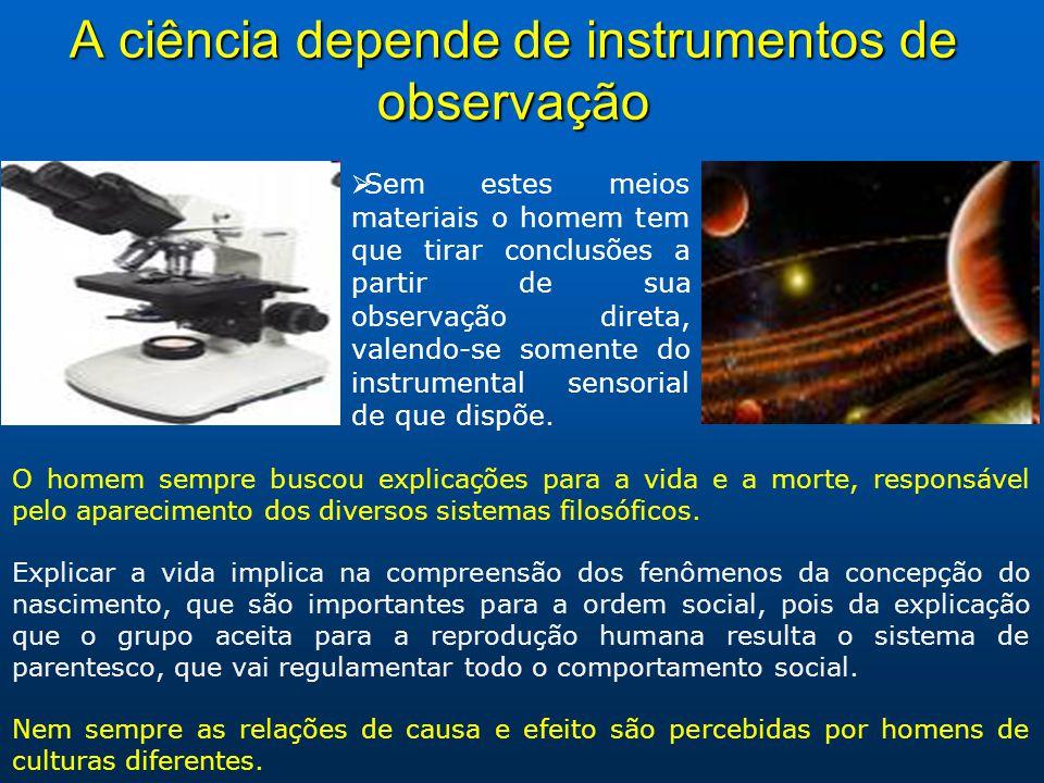 A ciência depende de instrumentos de observação