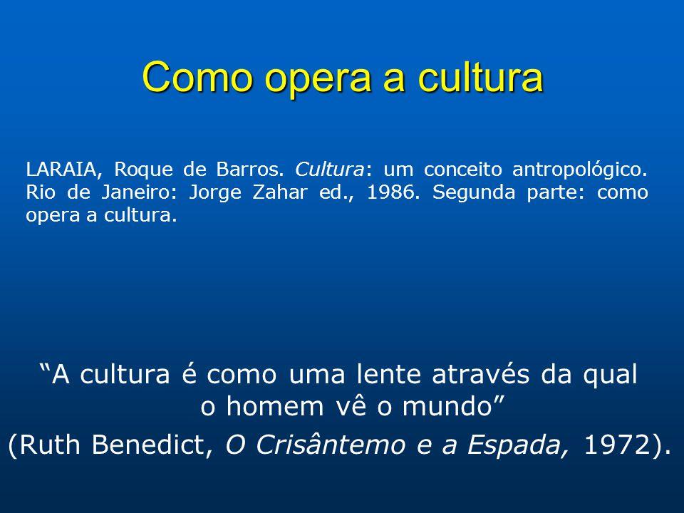 A cultura é como uma lente através da qual o homem vê o mundo