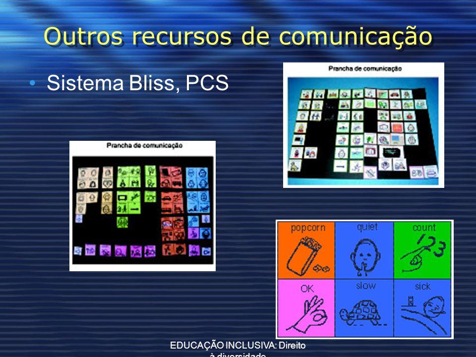 Outros recursos de comunicação