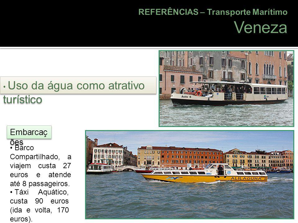 Veneza REFERÊNCIAS – Transporte Marítimo Embarcações