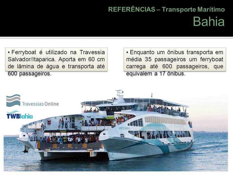 Bahia REFERÊNCIAS – Transporte Marítimo