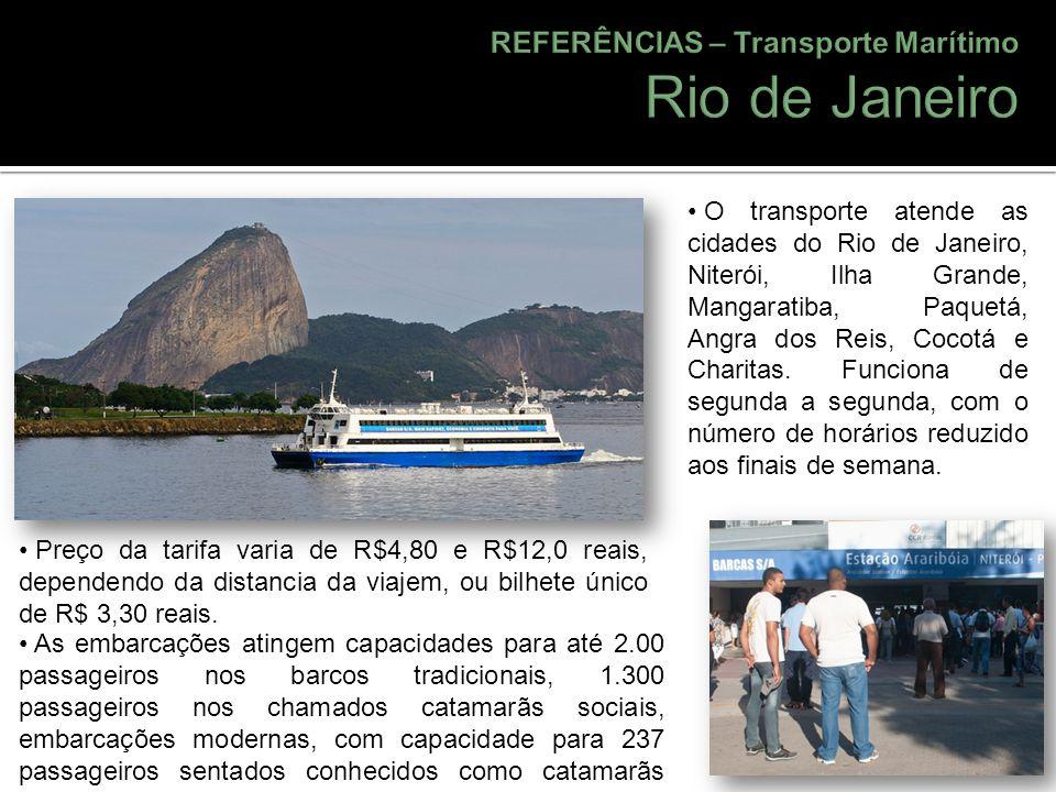 Rio de Janeiro REFERÊNCIAS – Transporte Marítimo