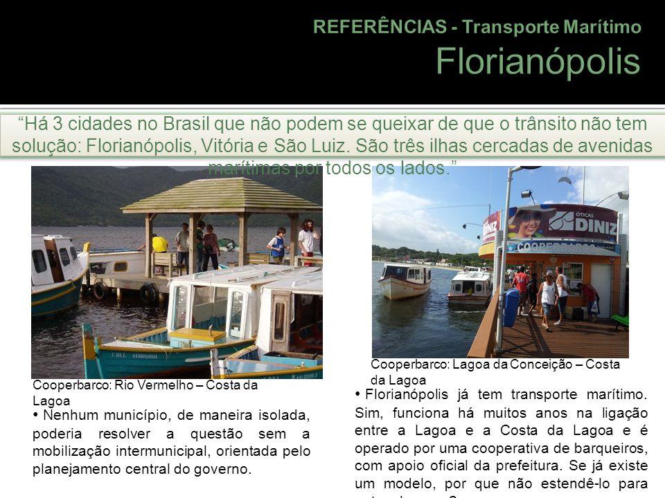 Florianópolis REFERÊNCIAS - Transporte Marítimo