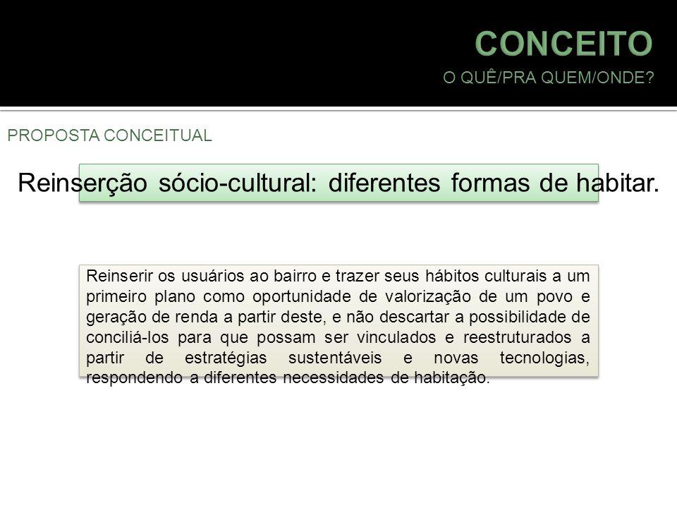 Reinserção sócio-cultural: diferentes formas de habitar.