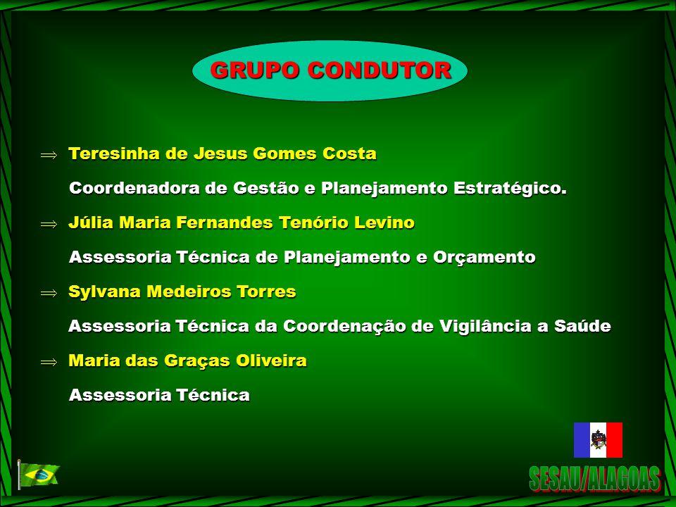 SESAU/ALAGOAS GRUPO CONDUTOR Teresinha de Jesus Gomes Costa