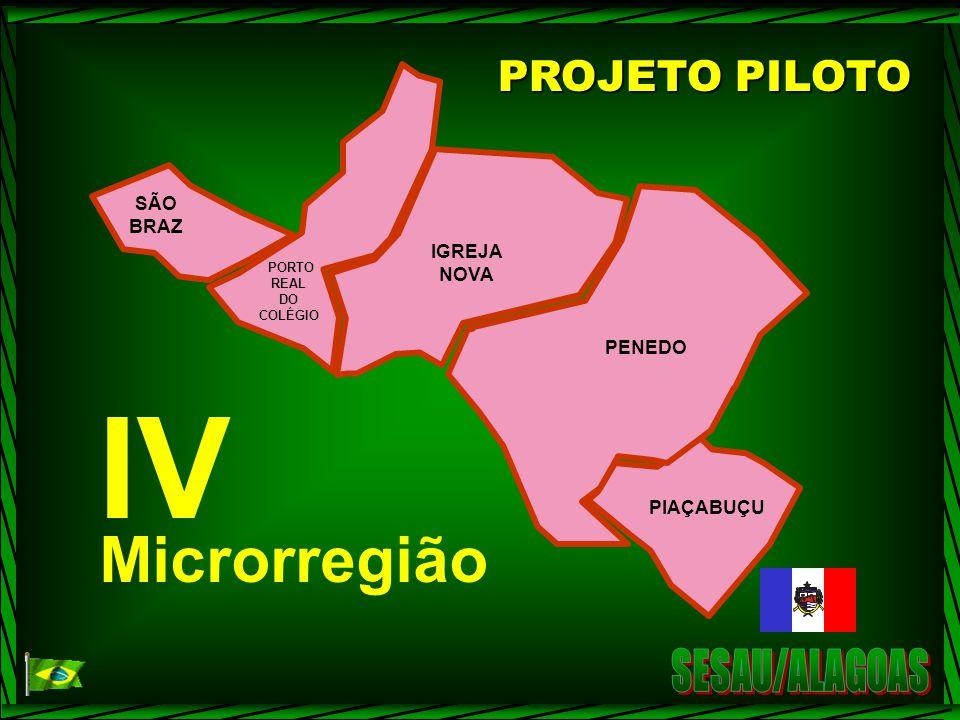 IV Microrregião SESAU/ALAGOAS PROJETO PILOTO SÃO BRAZ IGREJA NOVA