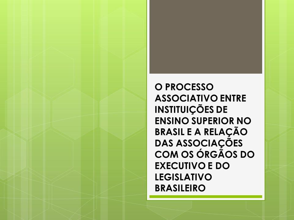 O PROCESSO ASSOCIATIVO ENTRE INSTITUIÇÕES DE ENSINO SUPERIOR NO BRASIL E A RELAÇÃO DAS ASSOCIAÇÕES COM OS ÓRGÃOS DO EXECUTIVO E DO LEGISLATIVO BRASILEIRO