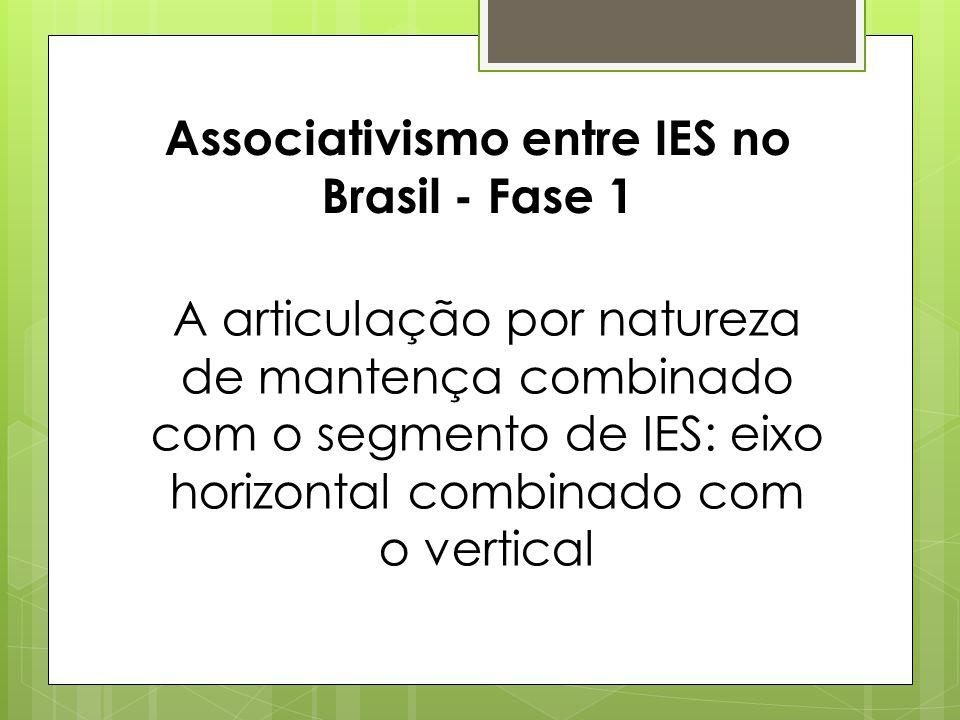 Associativismo entre IES no Brasil - Fase 1