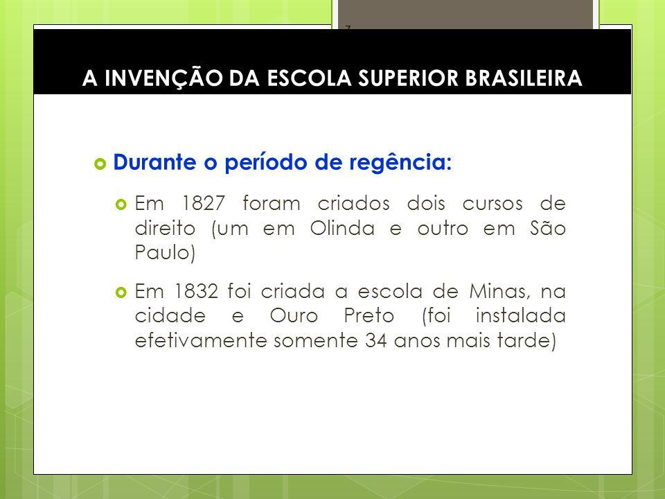 A INVENÇÃO DA ESCOLA SUPERIOR BRASILEIRA