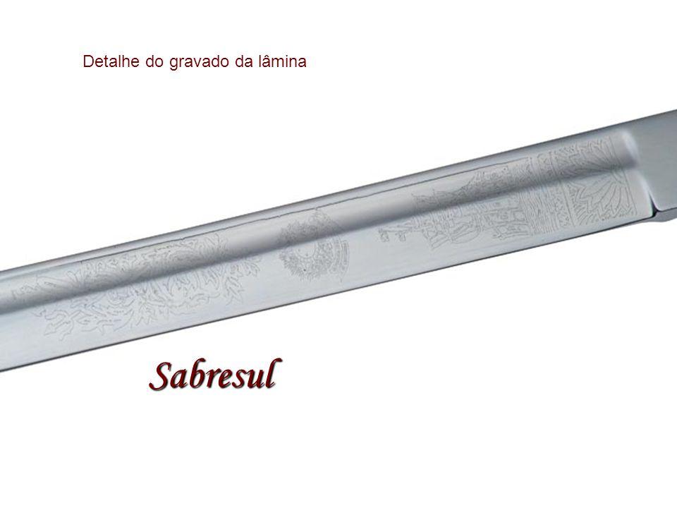 Detalhe do gravado da lâmina