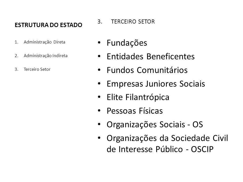 Entidades Beneficentes Fundos Comunitários Empresas Juniores Sociais