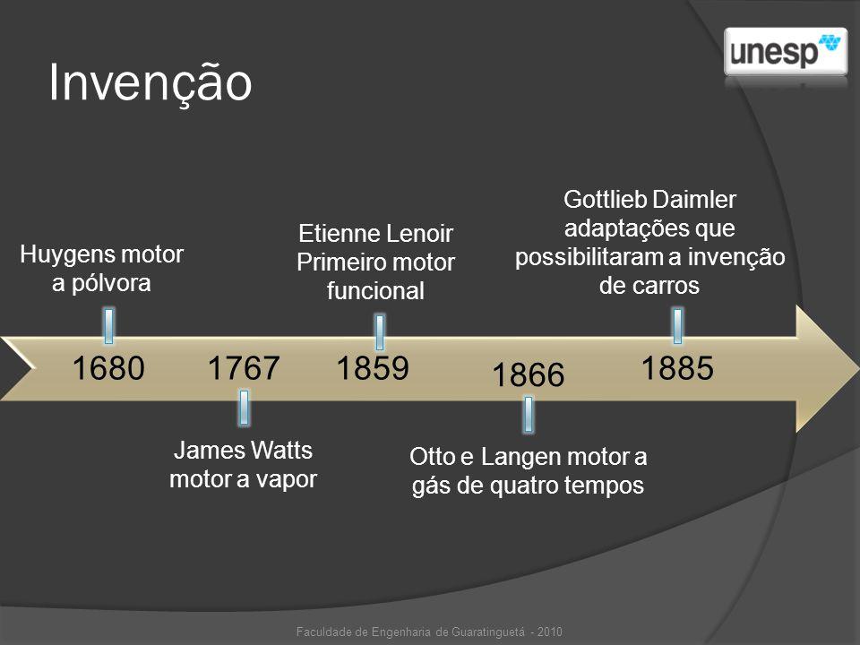 Invenção Gottlieb Daimler adaptações que possibilitaram a invenção de carros. Etienne Lenoir. Primeiro motor funcional.
