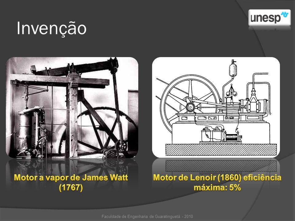 Invenção Motor a vapor de James Watt (1767)