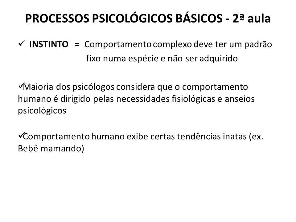 PROCESSOS PSICOLÓGICOS BÁSICOS - 2ª aula