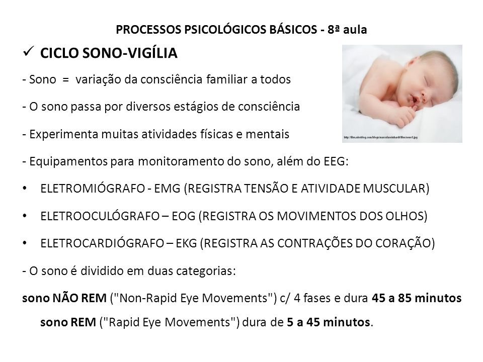 PROCESSOS PSICOLÓGICOS BÁSICOS - 8ª aula