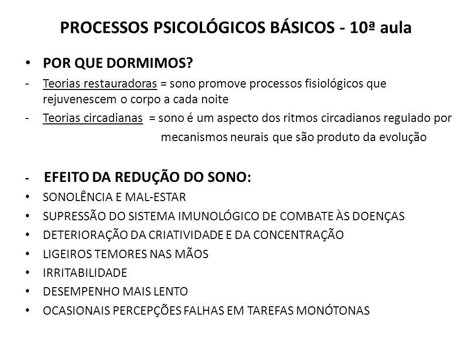 PROCESSOS PSICOLÓGICOS BÁSICOS - 10ª aula