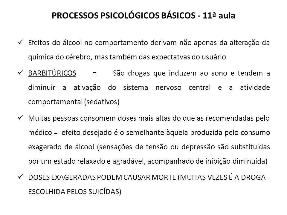 PROCESSOS PSICOLÓGICOS BÁSICOS - 11ª aula