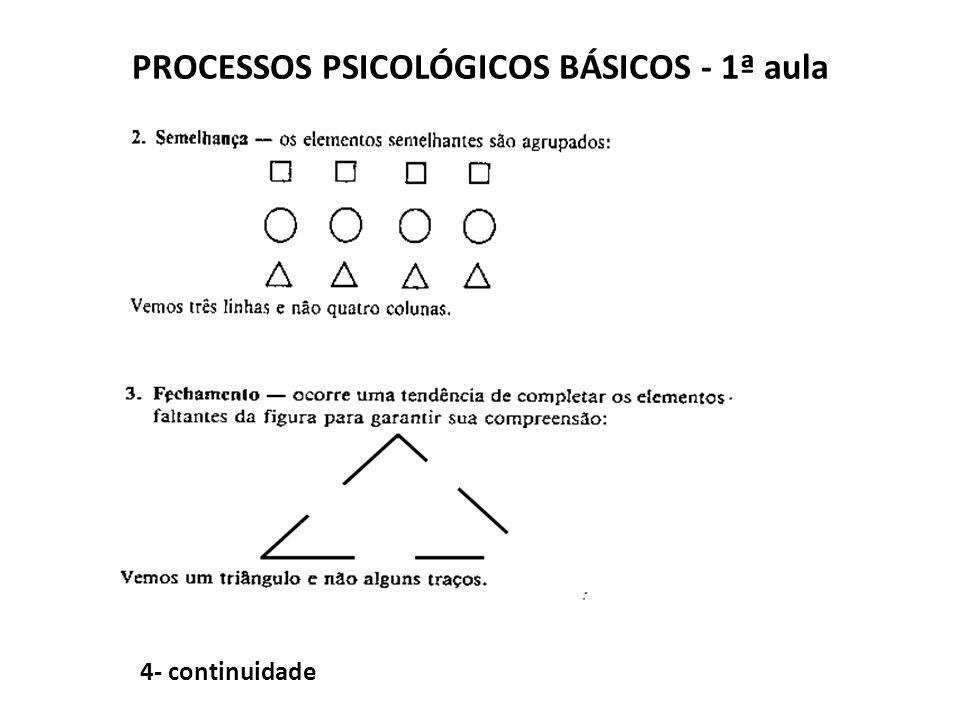 PROCESSOS PSICOLÓGICOS BÁSICOS - 1ª aula