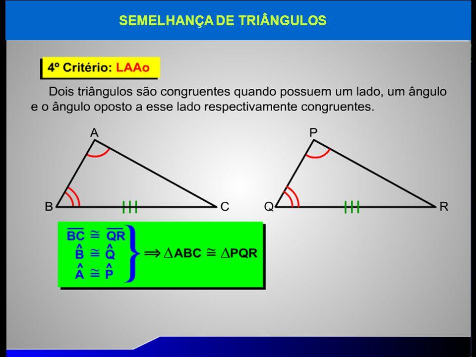 SEMELHANÇA DE TRIÂNGULOS