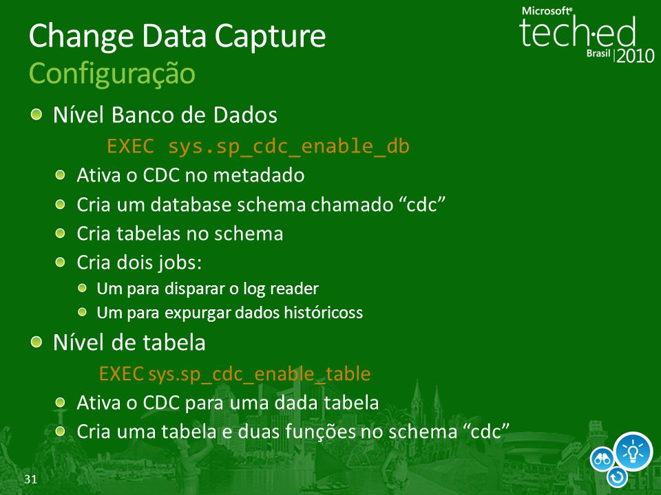 Change Data Capture Configuração