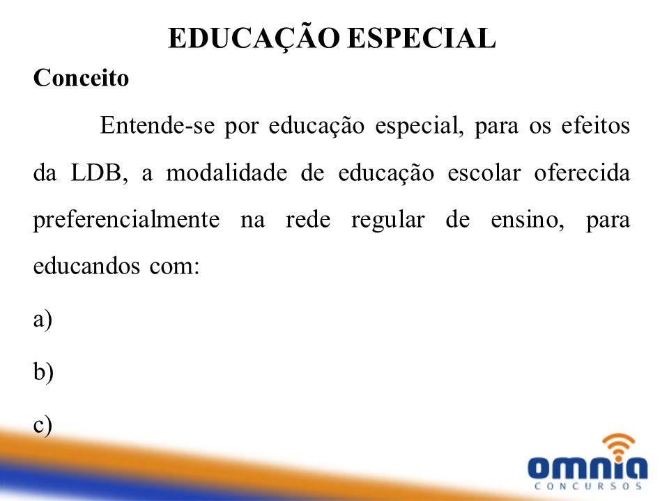 EDUCAÇÃO ESPECIAL Conceito