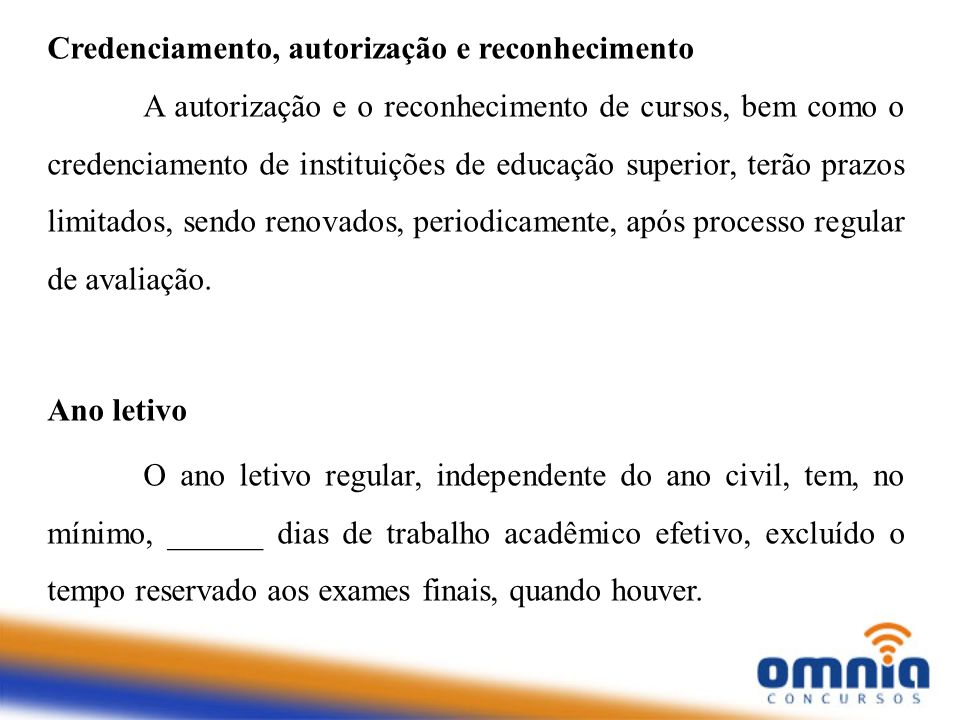Credenciamento, autorização e reconhecimento