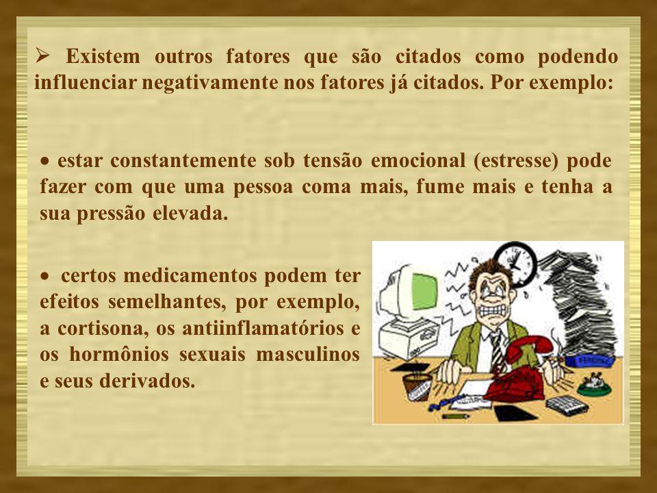  Existem outros fatores que são citados como podendo influenciar negativamente nos fatores já citados. Por exemplo: