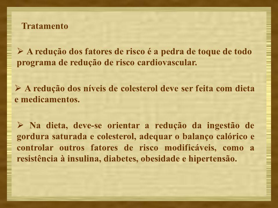 Tratamento  A redução dos fatores de risco é a pedra de toque de todo programa de redução de risco cardiovascular.