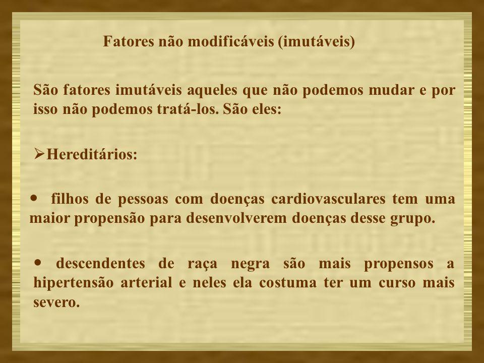 Fatores não modificáveis (imutáveis)