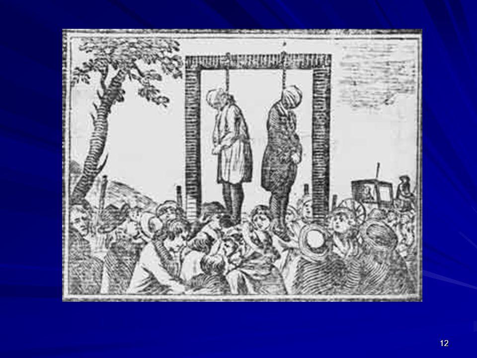 Prisão penitenciária sucede à pena de morte, embora conviva com ela em muitos países.