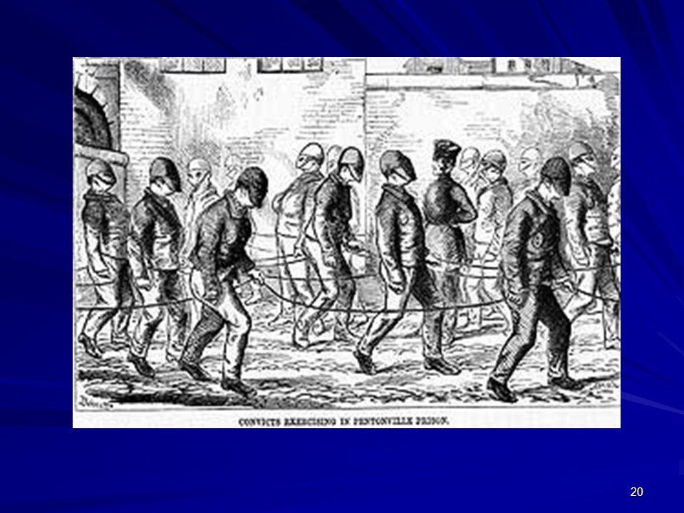 Pentonville prisoners exercising wearing masks