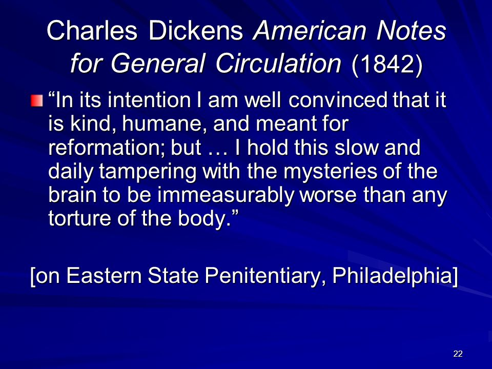 Charles Dickens American Notes for General Circulation (1842)
