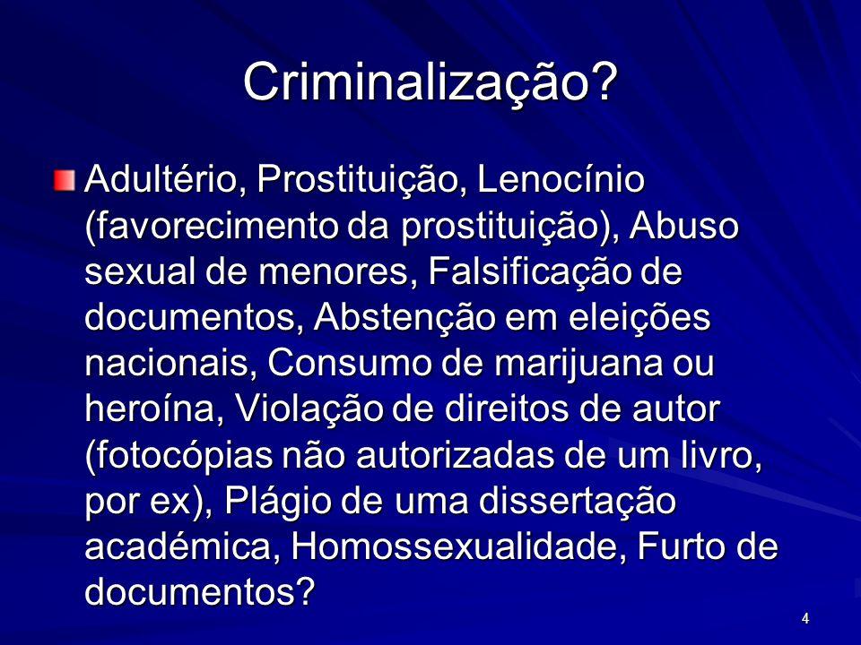 Criminalização