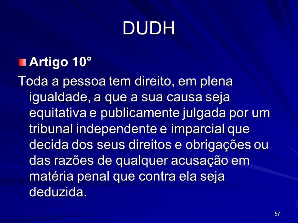 DUDH Artigo 10°