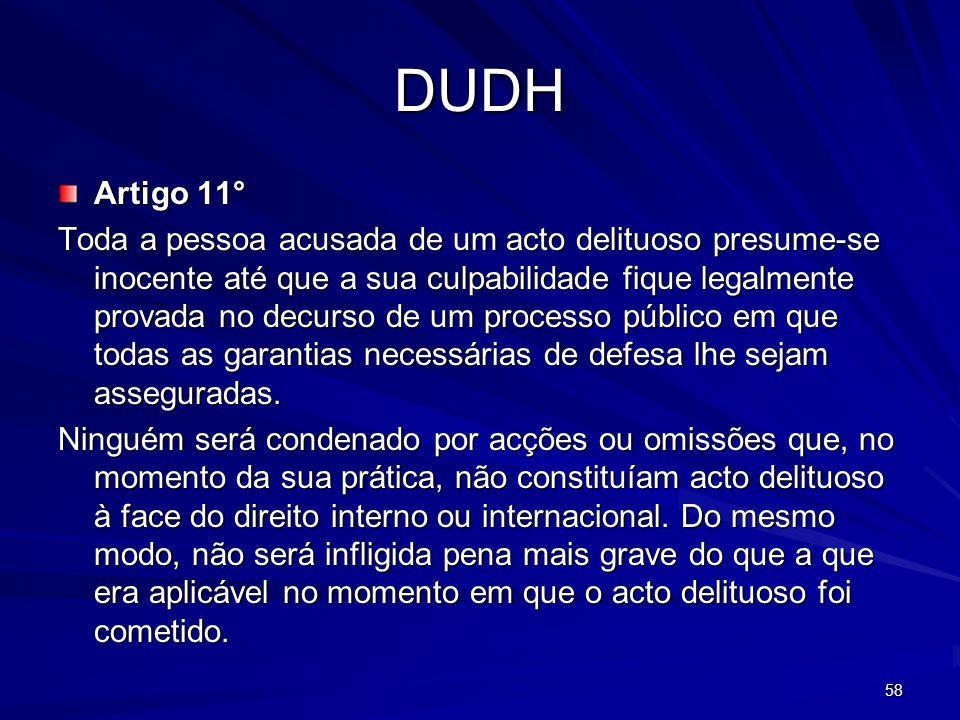 DUDH Artigo 11°
