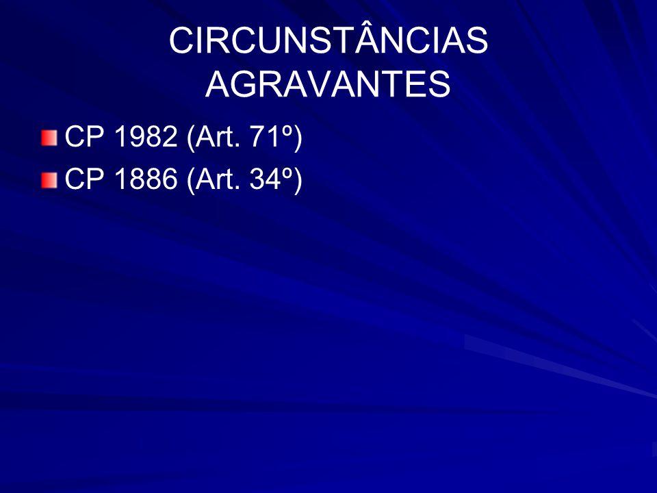 CIRCUNSTÂNCIAS AGRAVANTES